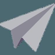 avion en papier illustrant service d'envoi